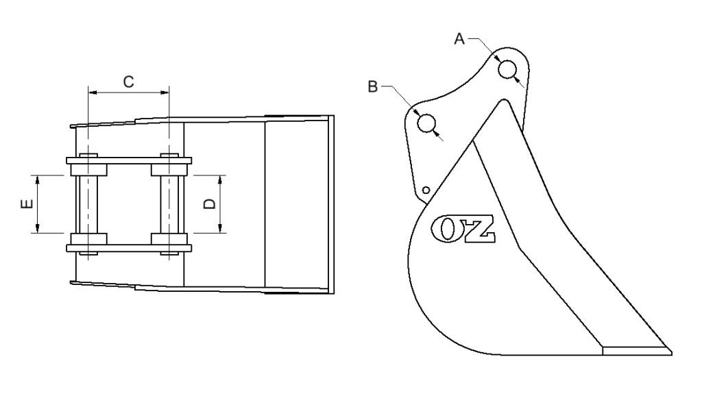 How to measure excavator or backhoe pickup measurements